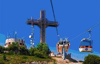 La montagna Vodno, la Croce del millennio