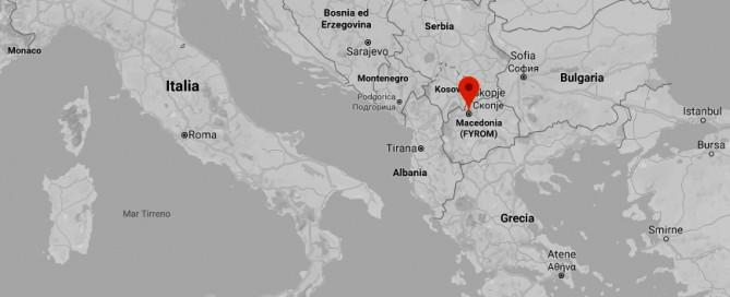 Mappa Repubblica di Macedonia